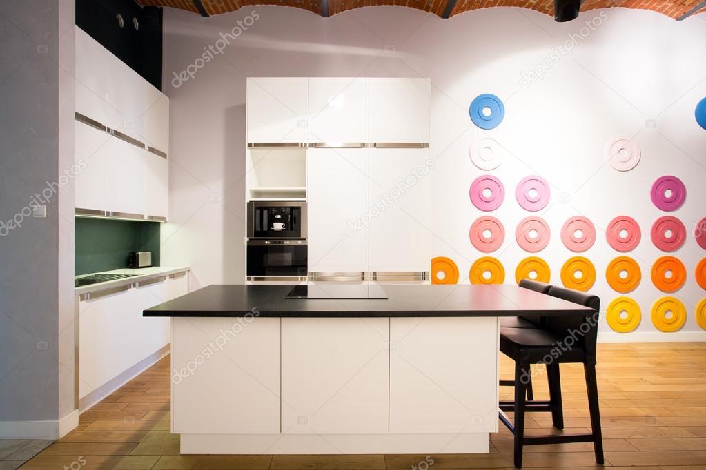 Moderne Küche Mit Insel U2014 Stockfoto