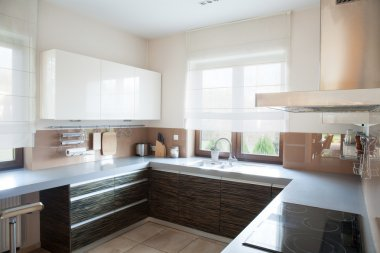 Well-organized kitchen interior