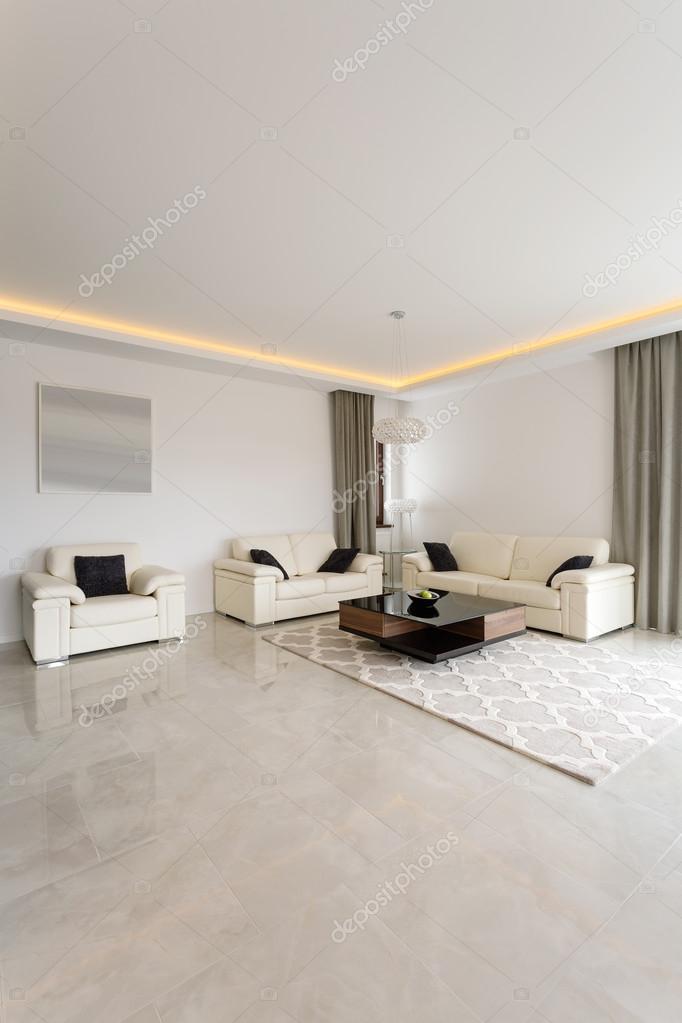 Helle exklusive Wohnzimmer — Stockfoto © photographee.eu #77036323