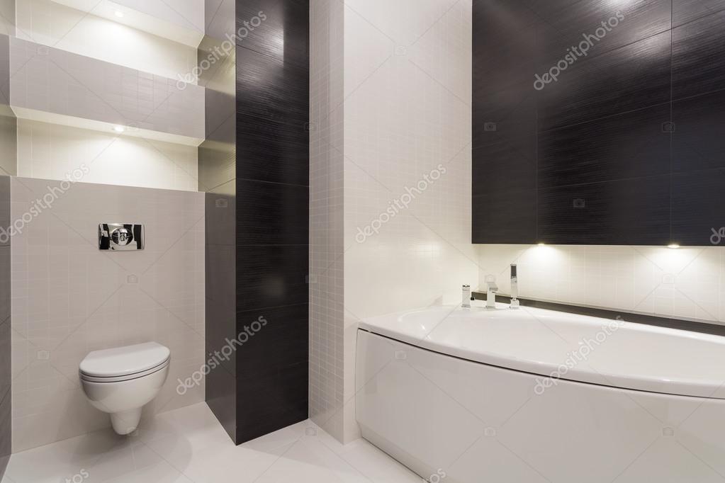 Zwart wit moderne toilet u stockfoto photographee eu