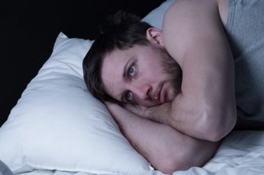 Man cannot get any sleep