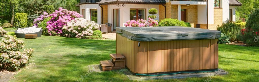 Small covered swimming pool