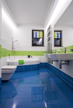 Blue and green tiles