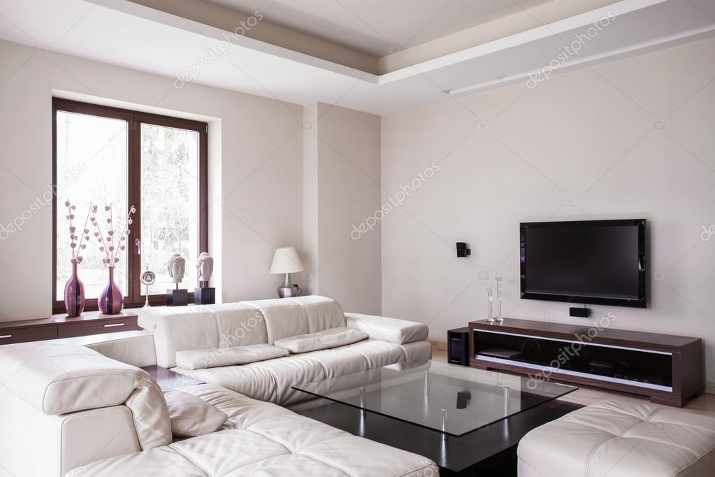 Blanco diseño living comedor — Foto de stock © photographee.eu #77745014
