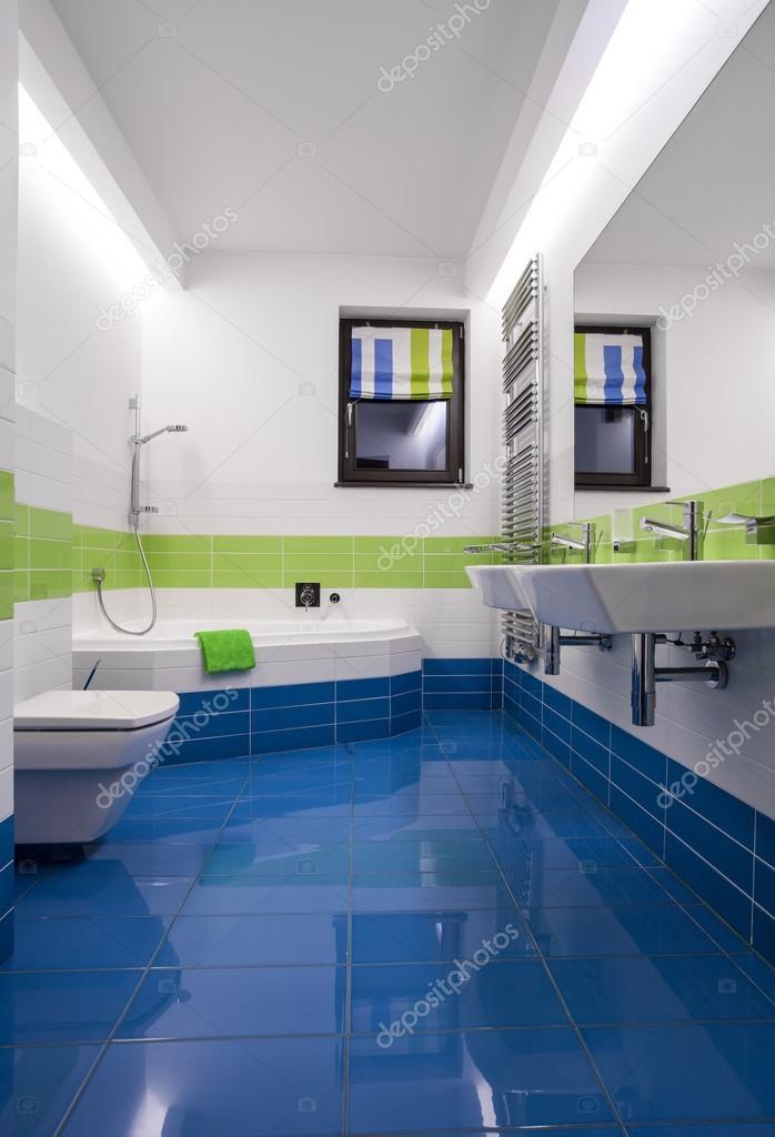 Kék és zöld csempe — Stock Fotó © photographee.eu #77746118
