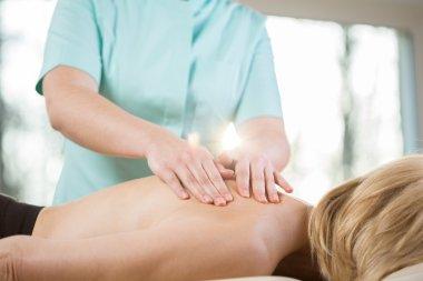 Stroking during massage
