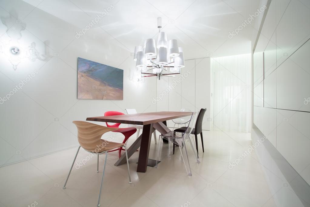 Wunderbar Diverse Stühle Im Speisesaal Im Modernen Design U2014 Foto Von Photographee.eu