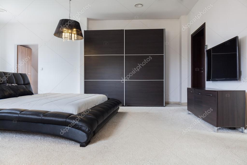 Camere Da Letto Maschili : Design camera da letto in stile maschile u foto stock