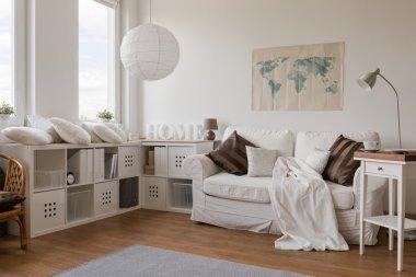 White modern sitting room