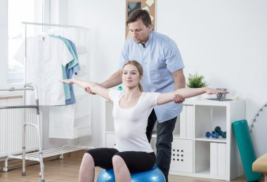 Training with physiotherapist