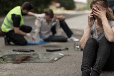 Umutsuzluk sürücü sonra trafik kazası