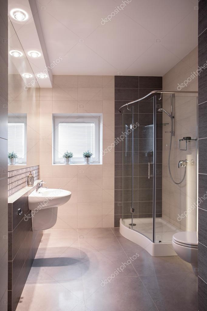 Luksusowe Przebudowy łazienka Z Prysznicem Zdjęcie