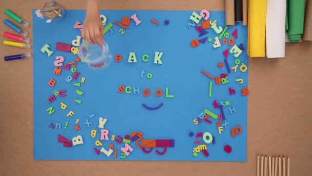 Back to school with plastic letters