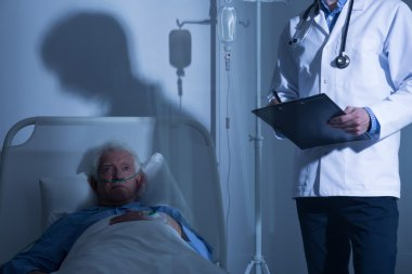 Terminally ill patient in hospice
