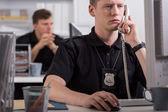 Rendőr munkája során