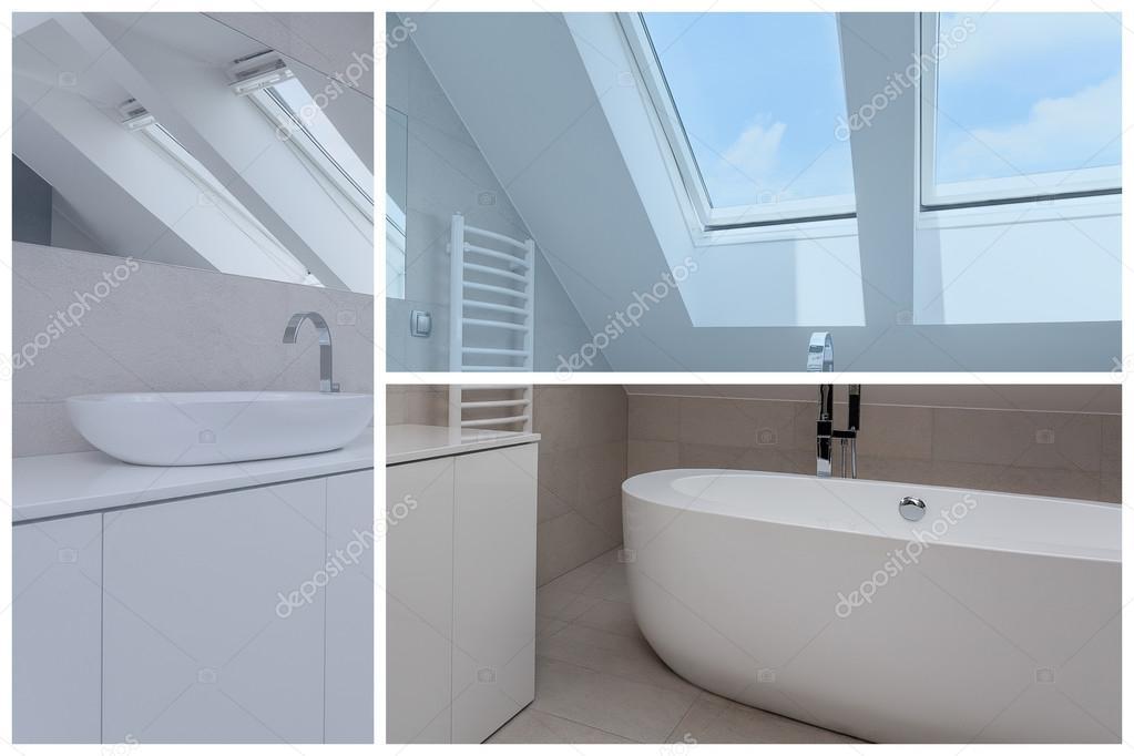 łazienka Na Poddaszu Zdjęcie Stockowe Photographeeeu