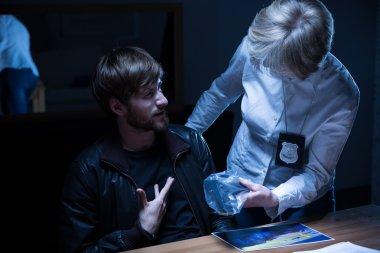 Examination in interrogation room