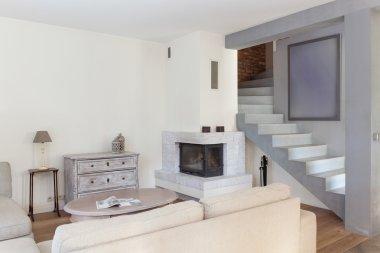 Retro modern living room design