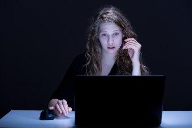 Teenage girl intimidated by stalker