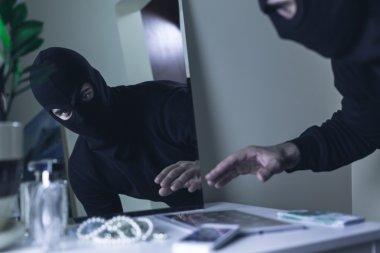 Thief in balaclava