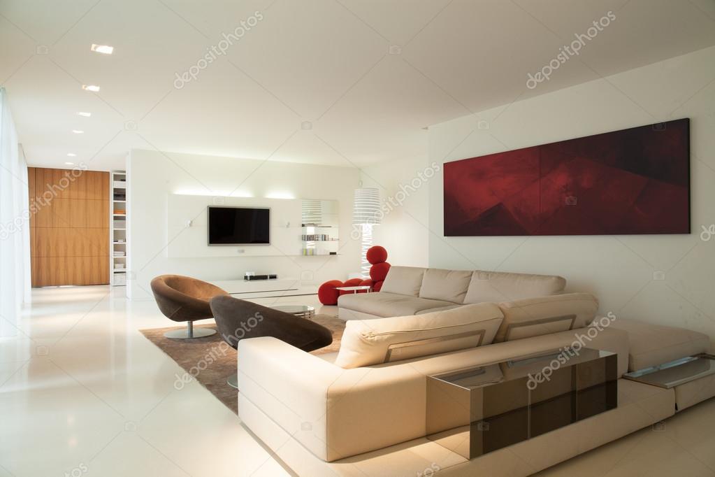 Hedendaagse woonkamer ontwerp — Stockfoto © photographee.eu #83814840