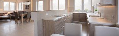 Open kicthen in spacious villa