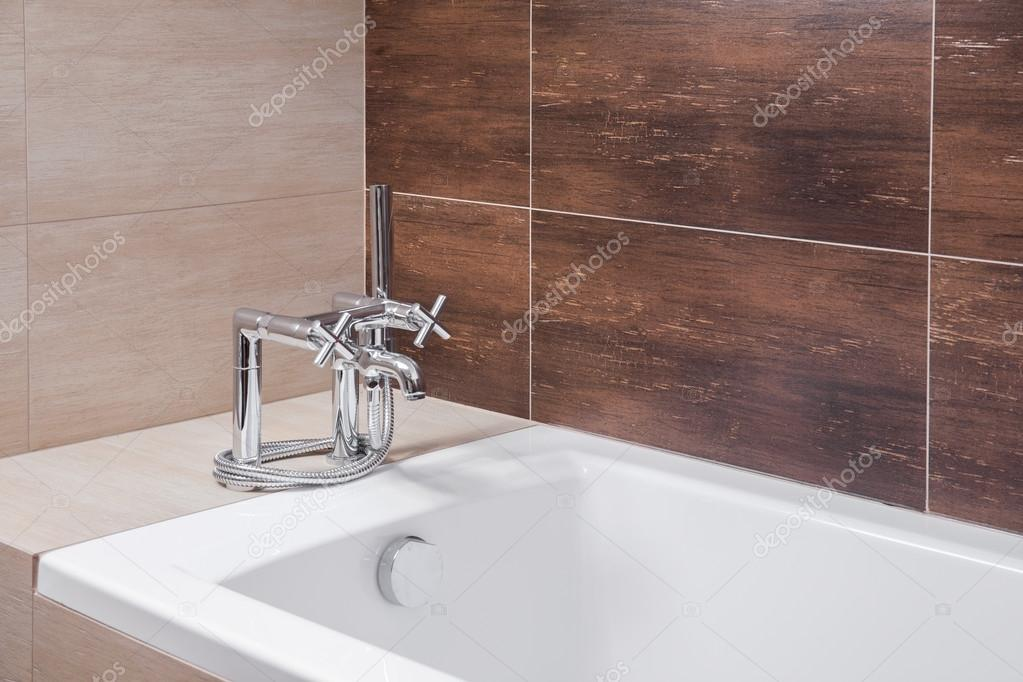 Bathtub with old style tap — Stock Photo © photographee.eu #85145082