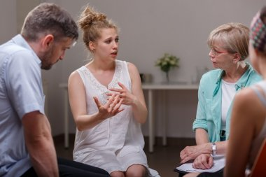 Group of people during therapy