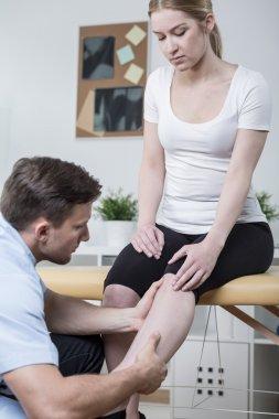 Patient with leg ache