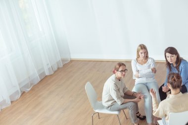 Support group during psychotherapeutic session