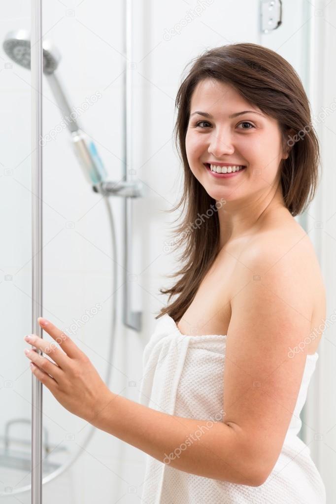 White Girl In Shower