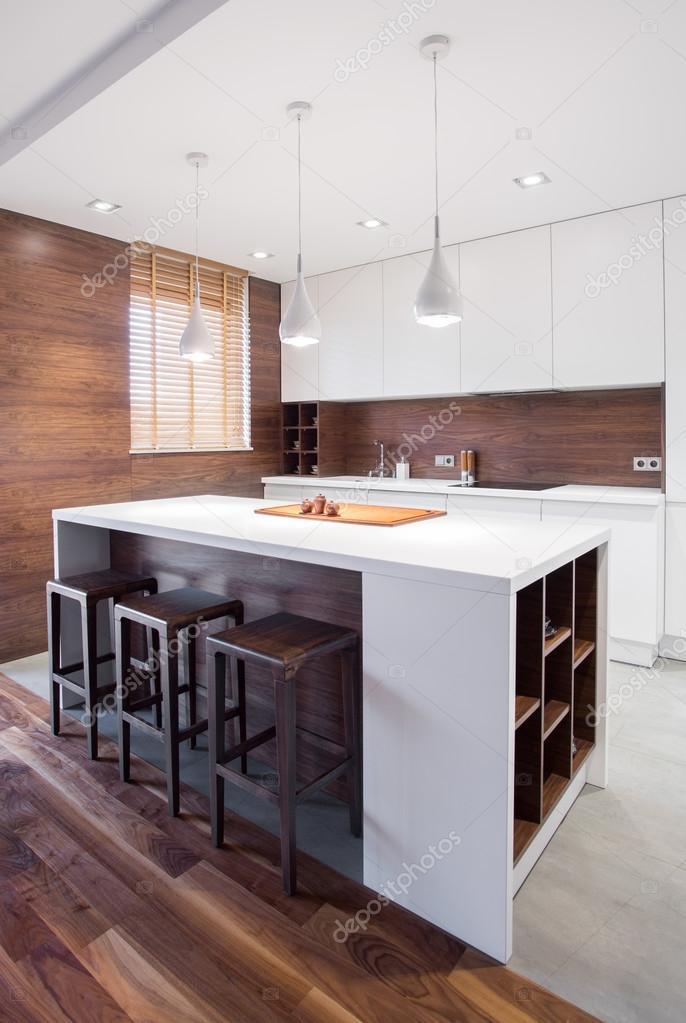 Moderne Kücheninsel — Stockfoto © photographee.eu #89160584