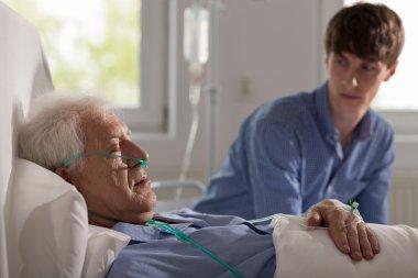 Sleeping elderly hospice patient