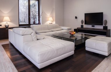 Spacious light living room