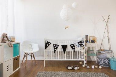 Cozy baby room decor
