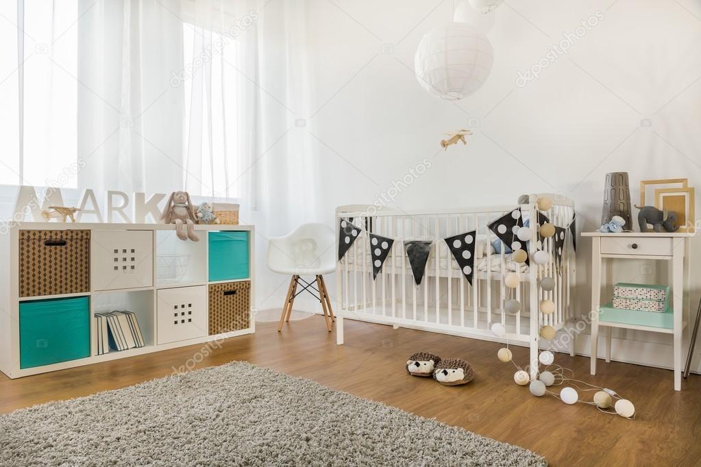 Baby Slaapkamer Decoratie : Baby jongen kamer u stockfoto photographee eu