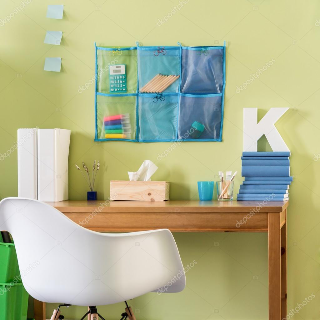 Home office in bright colors — Stock Photo © photographee.eu #95726938