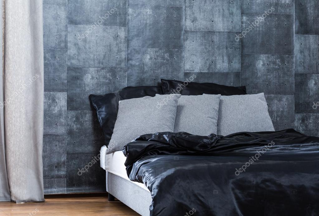 Concrete behang in de slaapkamer — Stockfoto © photographee.eu #96141300