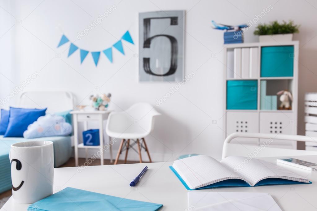 Wit en blauw kind kamer u stockfoto photographee eu