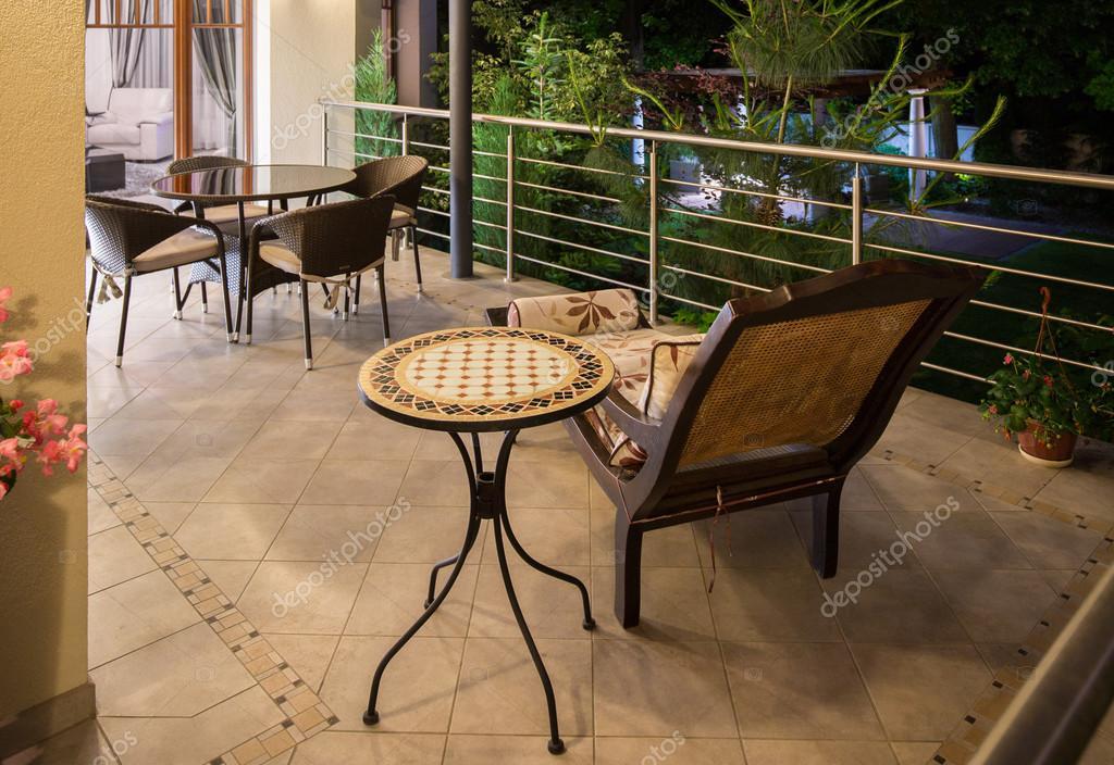 Elegante Jugendstil Terrasse Stockfoto C Photographee Eu 98860426