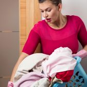 Schwere Last der Wäscherei