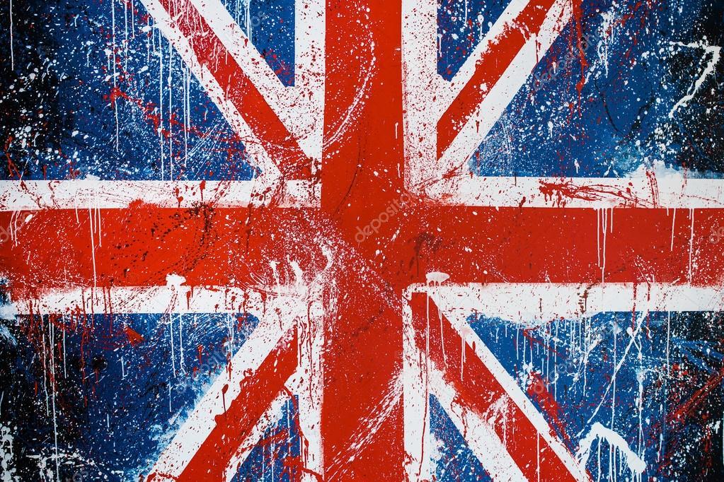 Bandera De Inglaterra Y Estados Unidos Para Colorear Muro De