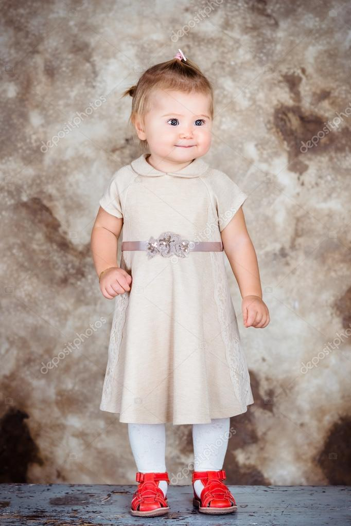 Adorable little girl with blond hair