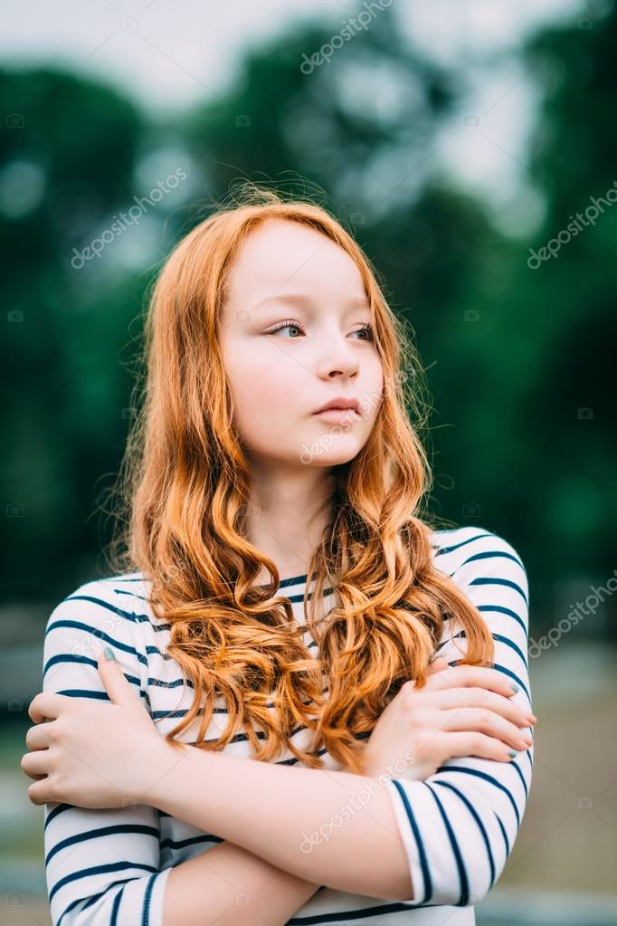 Young girl with red hair
