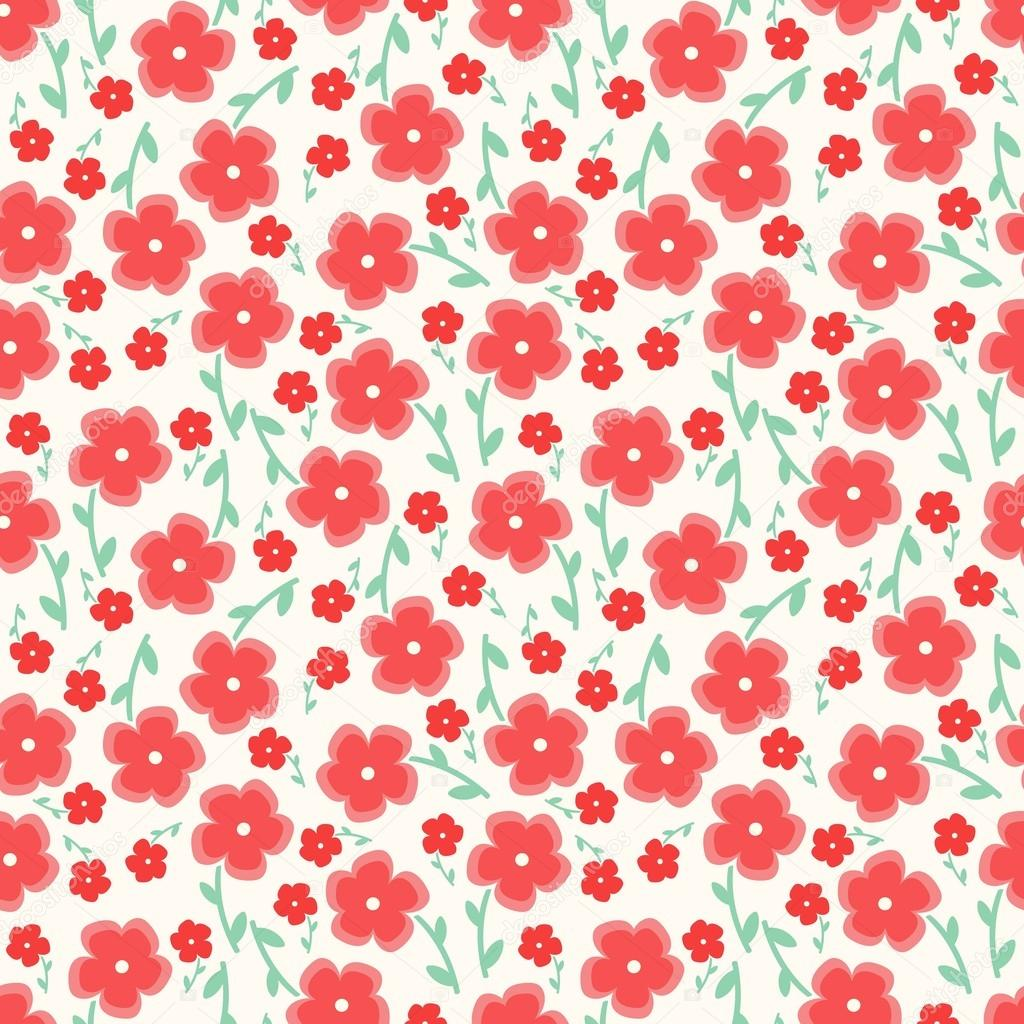 Simple And Beauty Flower Seamless Pattern Vector Illustration Good