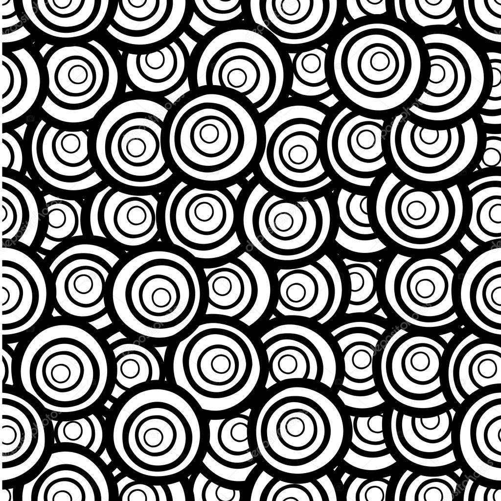 Vector monochrome background. Hand drawn ornament. Template for ...