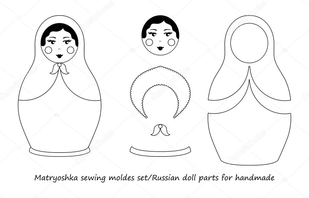 Russian Nesting Dolls Coloring Pages Printable | 658x1024