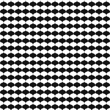 Monochrome seamless pattern with Christmas balls.