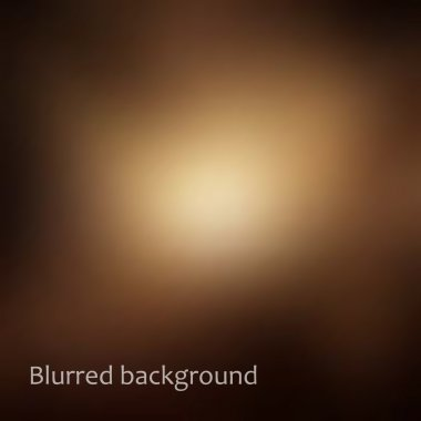 Vector blurred background in brown and gold