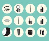Vektor-Illustration zum Thema Make-up.